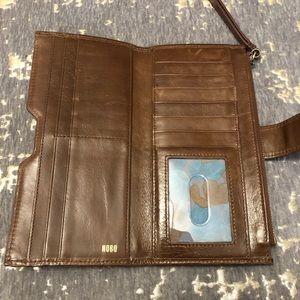 HOBO Brown Leather Wristlet Wallet